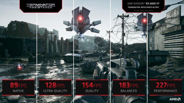 AMD FSR Quality Mode Performance Comparison 4K - Terminator