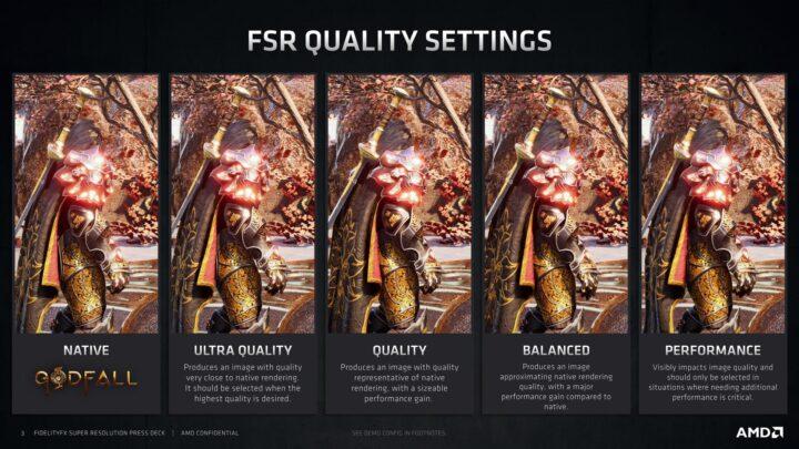 AMD FSR Quality Settings 4K Comparions Image - Godfall