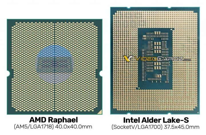 AMD Raphael vs Intel Alder Lake-S
