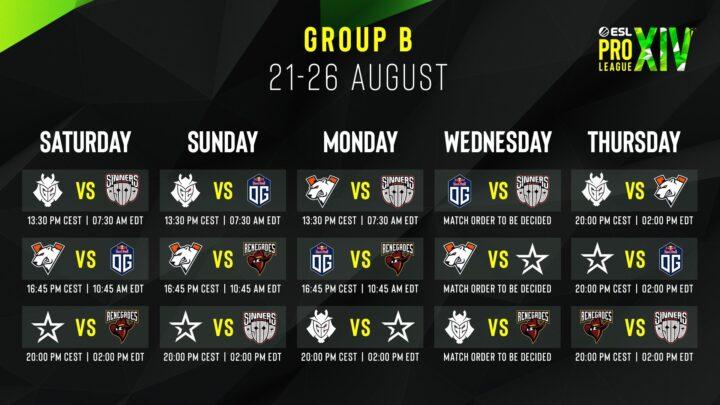 Znamy harmonogram ESL Pro League Season 14 1