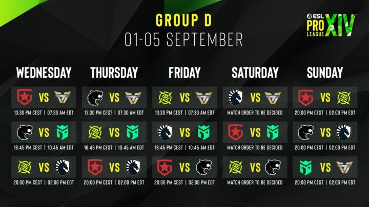 Znamy harmonogram ESL Pro League Season 14 3